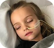 Kinsley sleeping with oxygen