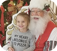Kinsley and Santa Claus