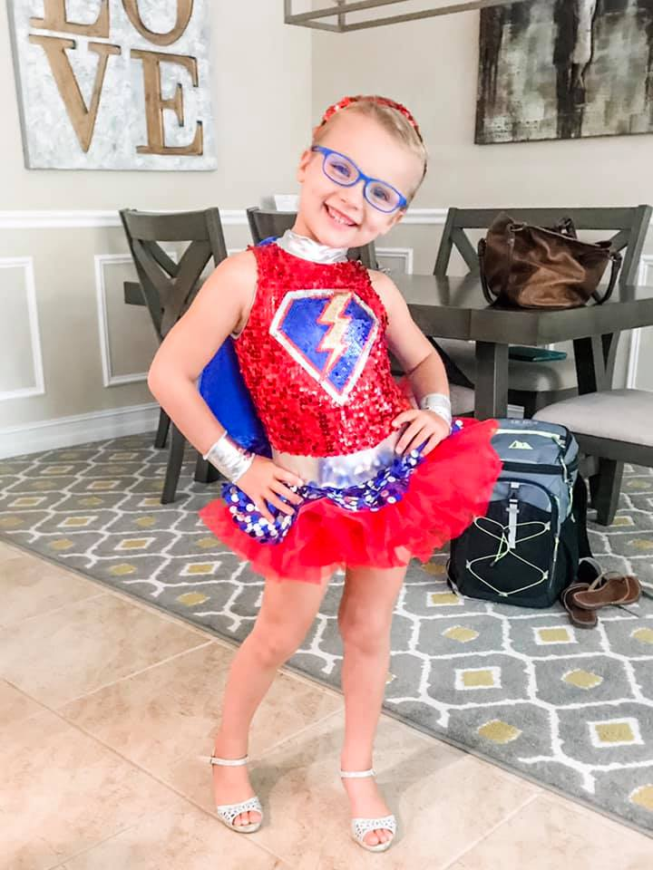 Kinsley with a Super Hero custome
