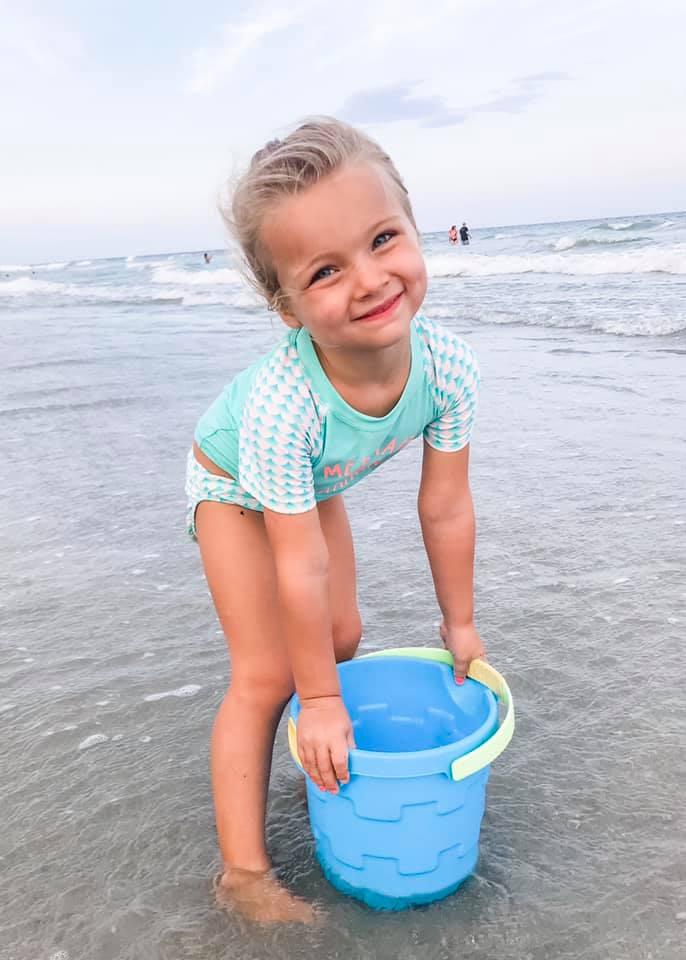 Kinsley on the beach