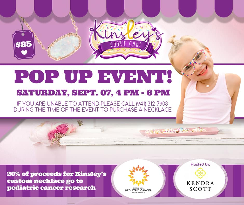 details of the Kendra Scott pop up event