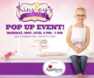 Kinsleys Cookie Cart POP-UP Applebees NOV 2019
