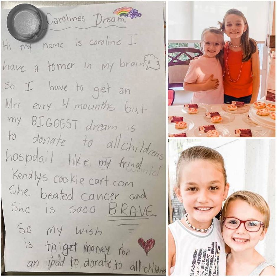 A letter from Caroline and Caroline with Kinsley
